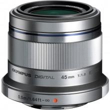 Olympus M. Zuiko Digital ED 45mm f/1.8 Lens Silver