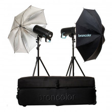 Broncolor Siros 400 Basic 2-Light Wi-Fi/RFS 2.1 Studio Kit