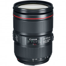 Canon EF 24-105mm f/4L IS II USM Lens Side Angled
