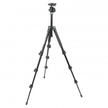 Manfrotto 293 Aluminum Kit, Tripod 4 sections with QR Ball Head