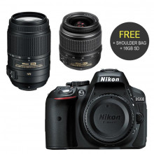 Nikon D5300 DSLR Double Lens Bundle