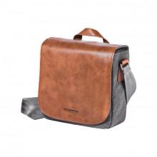 Olympus Mini Leather & Canvas Messenger Bag