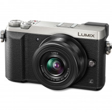 Panasonic Lumix DMC-GX85 Silver Mirrorless Digital Camera with 12-32mm Lens Front side