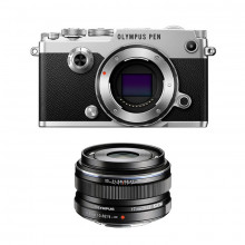 Olympus PEN-F 1718 Kit (silver and black)