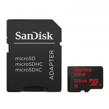 SanDisk 128GB microSDXC Ultra Android 80mb/s with SD Adapter