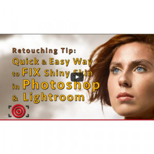 Monday Tips: Quick Photoshop Fix for Shiny Skin