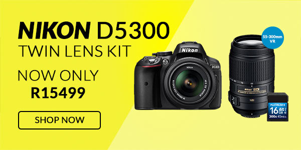 Nikon D5300 Twin 55-300mm VR Bundle
