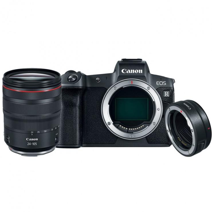 Canon EOS R & RF Adaptor & RF 24-105 L USM Bundle