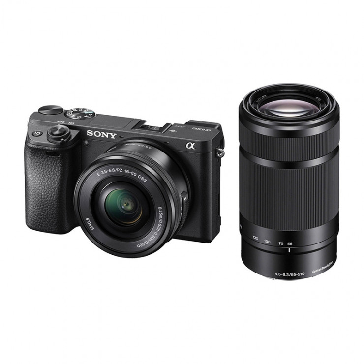 Sony Alpha a6300 Mirrorless Digital Camera with 16-50mm & 55-210mm Lenses