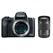 Canon EOS M50 Mirrorless  with 15-45mm Lens + 18-105mm