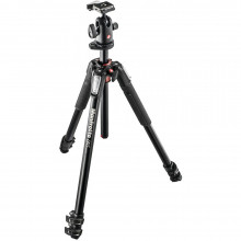 Manfrotto MK055XPRO3-BH New 055 Aluminium 3-Section Kit with 498RC2 Ball Head - 1
