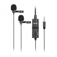 Boya Dual Lavalier Microphone