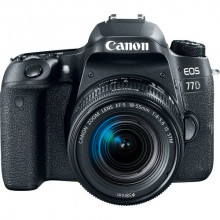 Canon EOS 77D DSLR with 18-55mm f/4-5.6 IS STM Lens