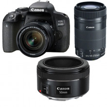 Canon EOS 800D Triple Lens KIt