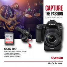 Canon EOS 80D Videographer Kit