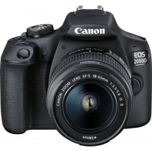 Canon EOS 2000D + 18-55mm IS II with Lowepro Adventura 170 Bag & 16GB Card