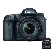 Canon EOS 7D Mark II DSLR with 18-135mm IS Nano USM Lens & W-E1 Wi-Fi Adapter