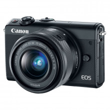Canon EOS M100 Mirrorless Camera with 15-45mm Lens (Black)