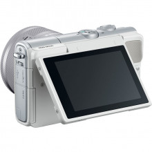 Canon EOS M100 with 15-45mm Lens (White) | Articulated LCD Screen
