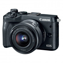 Canon EOS M6 Mirrorless Digital Camera & 15-45mm Lens