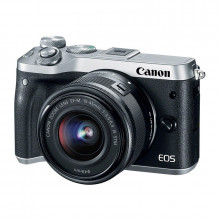 Canon EOS M6 Mirrorless Digital Camera & 15-45mm Lens (Silver)