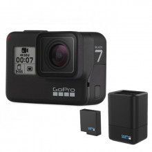 GoPro HERO7 Black + GoPro Dual Battery Charger & Battery