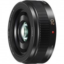 Panasonic LUMIX G 20mm f/1.7 II ASPH. Lens - Black - Front