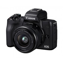 Canon EOS M50 Mirrorless  with 15-45mm Lens ( Black)