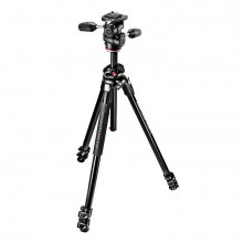 Manfrotto MK290DUA3-3W 290 Dual Aluminium 3-Section Kit with 3-Way Head