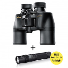 Nikon 8x42 Aculon A211 Binocular & Fenix E35 Ultimate Edition LED Flashlight
