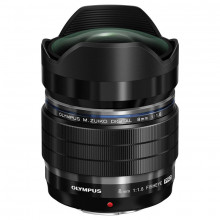 Olympus M.ZUIKO Digital ED 8mm f/1.8 Fisheye PRO Lens in Black