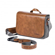 Olympus OM-D Leather Messenger Bag