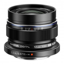 Olympus M.Zuiko Digital ED 12mm f/2 Lens (Black)