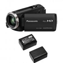 Panasonic HC-V180 Black + 2 BATT VW-VBT190E-K Lithium Ion Batteries