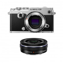 Olympus PEN-F Pancake Zoom  Kit (silver & black)