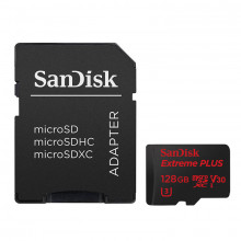 SanDisk 128GB Extreme PLUS UHS-I microSDXC Memory Card