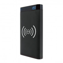 Snug 10000mAh Qi Wireless Charging Power Bank With LCD