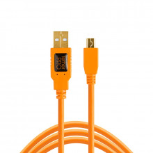 TetherPro USB 2.0 to Mini-B 5-Pin (Orange)