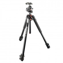 Manfrotto MK190XPRO3-BH Aluminum Tripod with 496RC2 Ball Head - 1