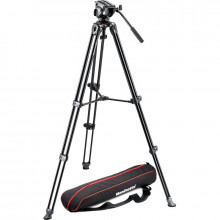 Manfrotto MVH500A Fluid Drag Video Head with MVT502AM Tripod and Carry Bag - 1
