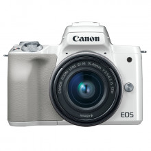 Canon EOS M50 Mirrorless  with 15-45mm Lens (White)