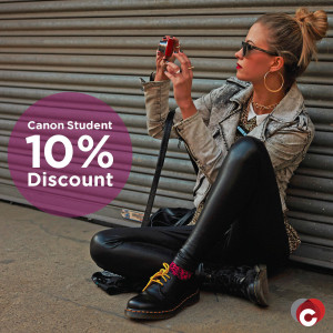 Canon 10% Student Discount