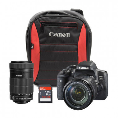 Canon EOS 750D Reach Bundle with Free Canon CS100 Connect Station