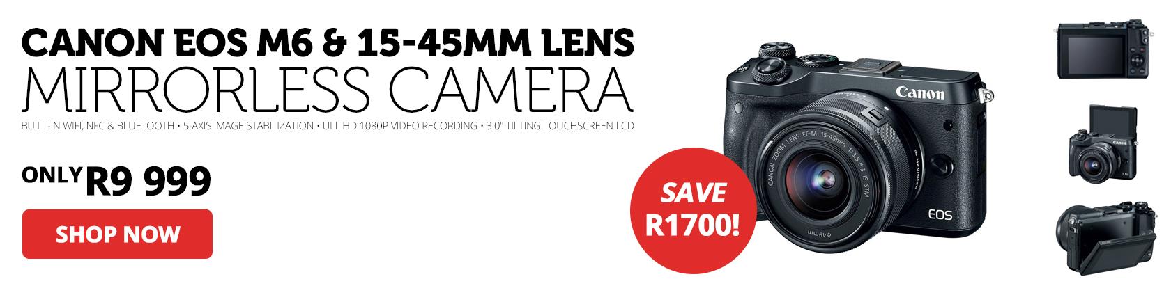 Canon EOS M6 Mirrorless Digital Camera & 15-45mm Lens