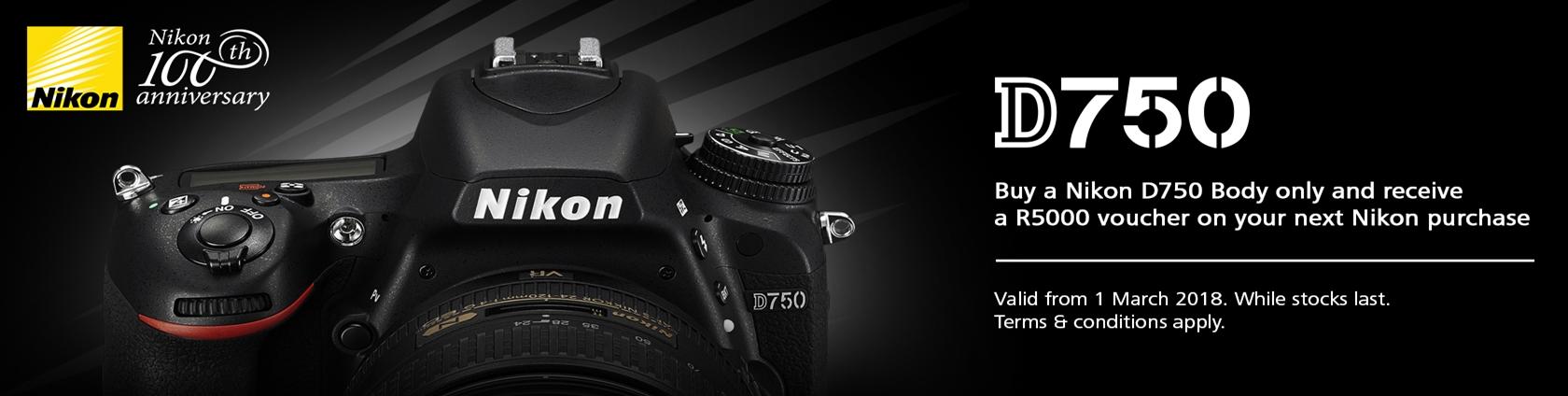 Nikon D750 voucher
