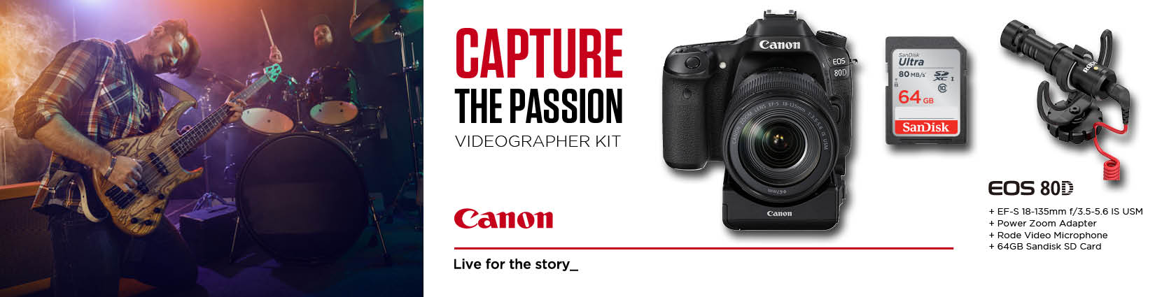 Canon EOS 80D Videography Kit