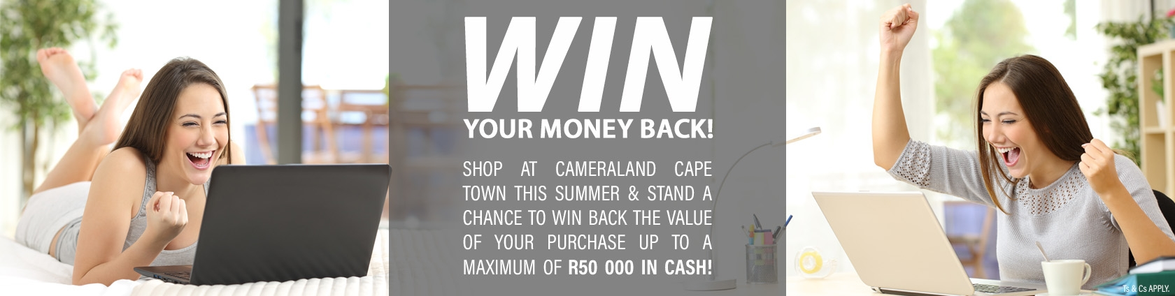 WIN BACK YOUR MONEY up to R50 000 in cash!
